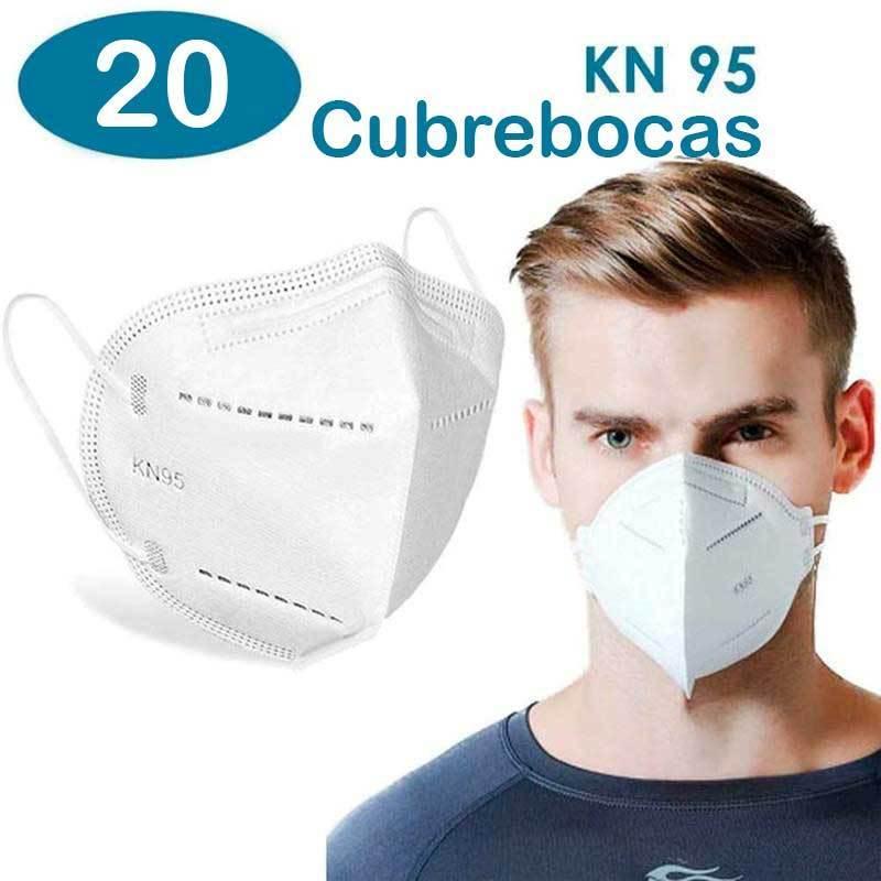 Cubrebocas kn95 paquete 20 pzas