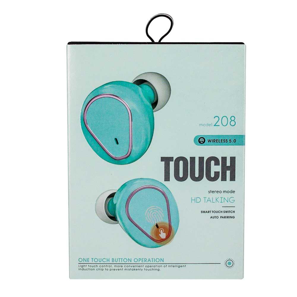 Audifono touch wireless 5.0 hd talking 208