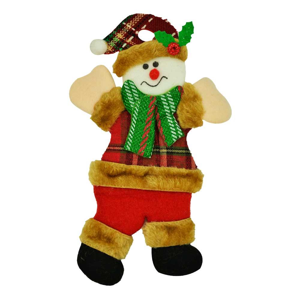 1 pz adorno navideño colgante monito de nieve...