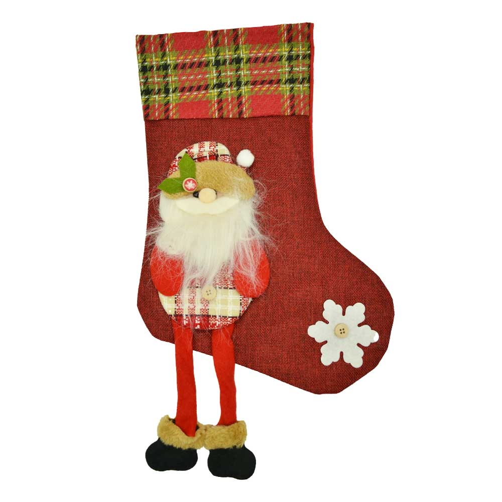 1 pza bota navideña piesitos grande