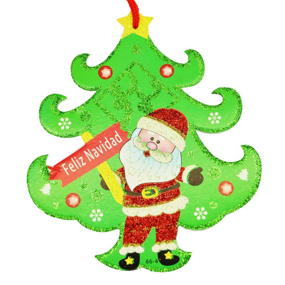 Paquete adorno colgante navideño grande,hielo seco, campanas,muñeco nieve,pino navidad,reno,santa