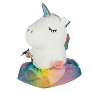 Peluche de unicornio con falda de colores