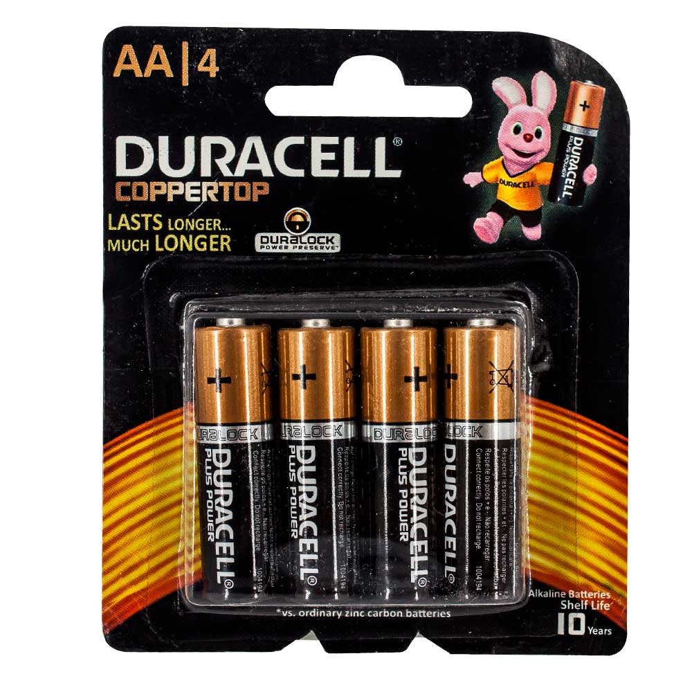 Paquete duracell aa blister 320