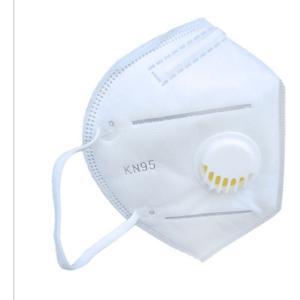 1 pza cubrebocas kn95 con valvula solo color blanco