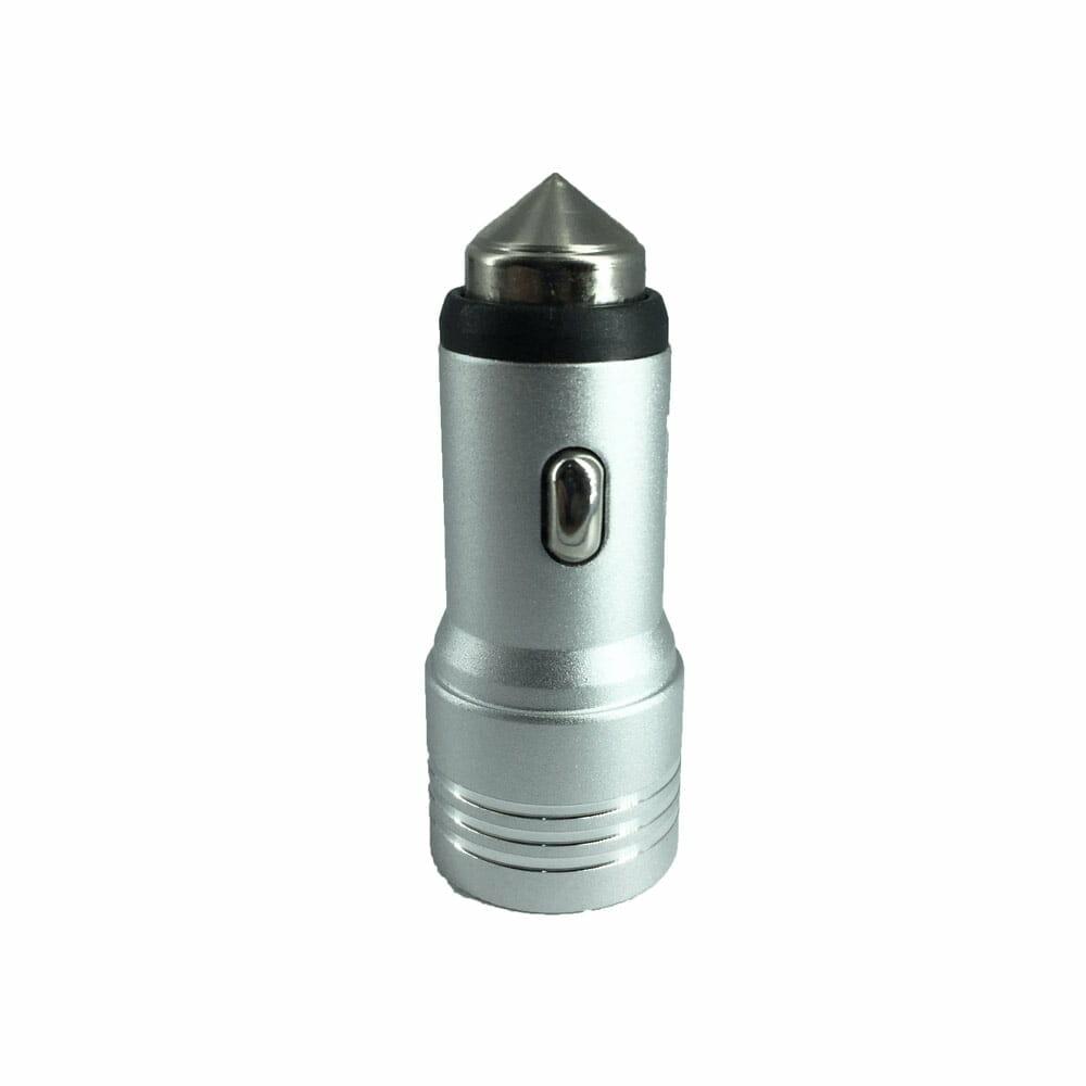 Plug punta metalica 1a y 2.4a, cargador de celular para automovil