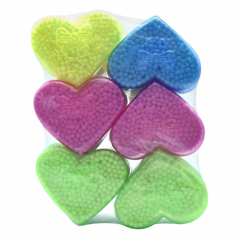 Cotonetes corazon. con 6 pzs. b-114-122