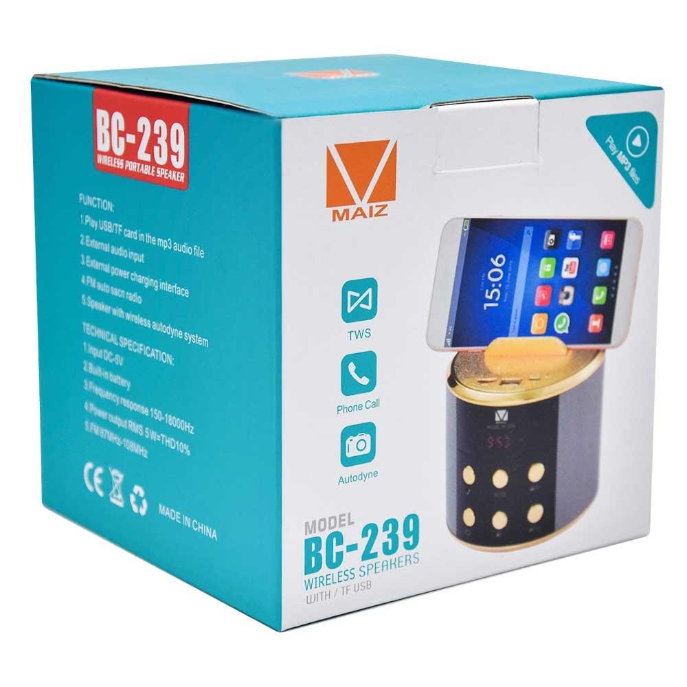Bocina play mp3 files con soporte para celular bc-239