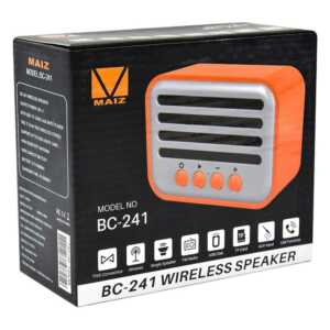 Bocina wireless speaker fm/usb/tf card/aux bc-241