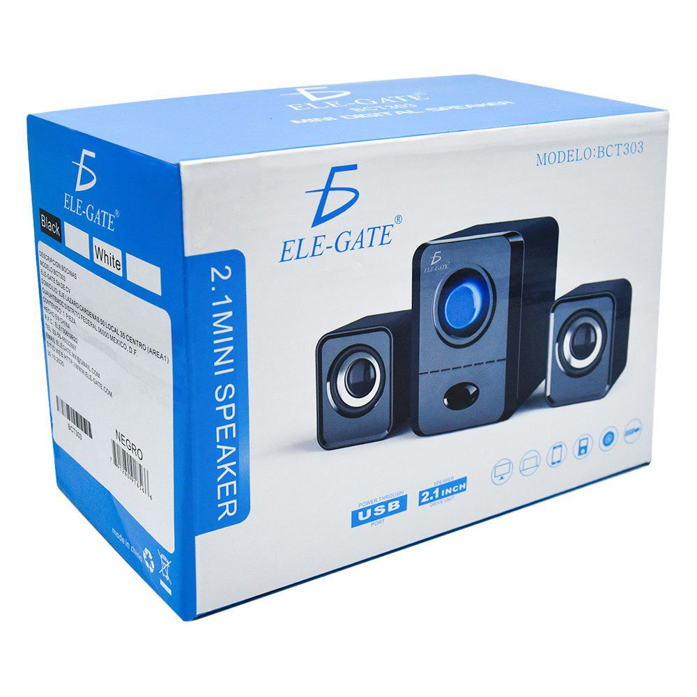 Bocinas color negro 2.1 mini speaker bct303