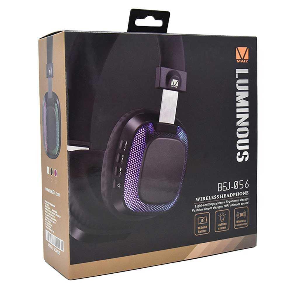 Diadema wireless headphone luminous bej-056