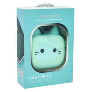 Wireless earphones inalambricos con estampado de gatito bej-080