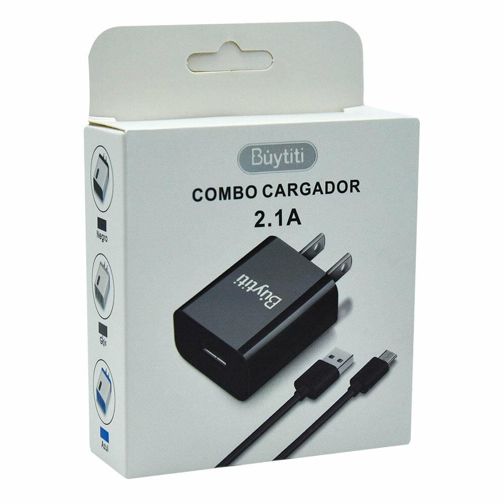 Combo cargador 2.1a con cable v8 car-601