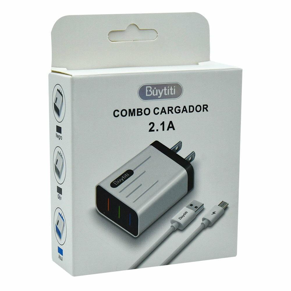 Combo cargador con cable 2.1a v8