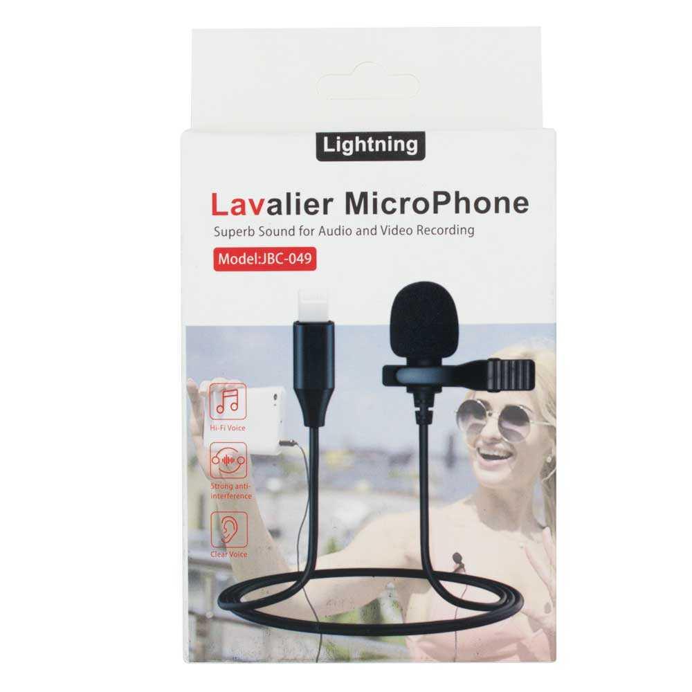 Microfono para celular con entrada tipo iphone con.70.lighting