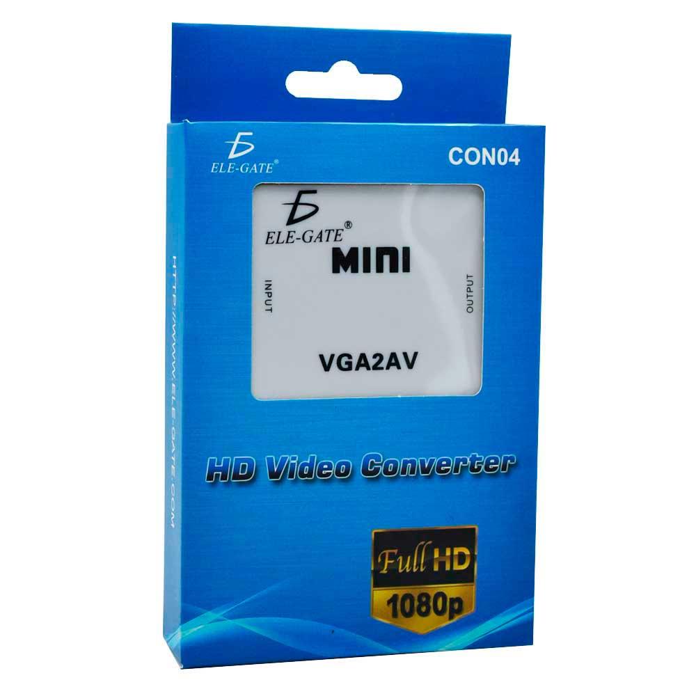 Convertidor con04 adaptador convertidor laptop pc vga rca