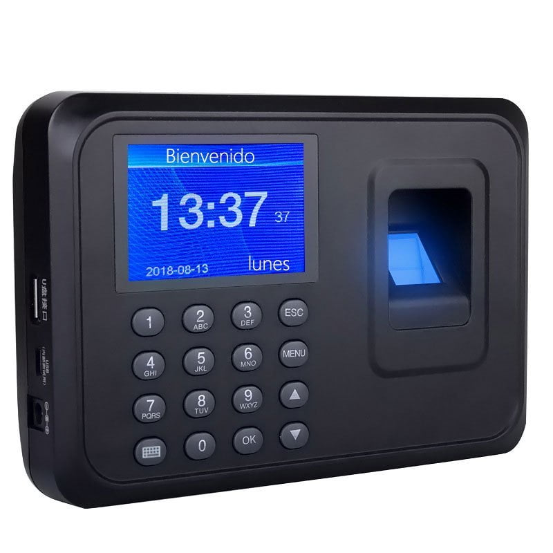 Reloj checador huella digital biométrico memoria usb con41
