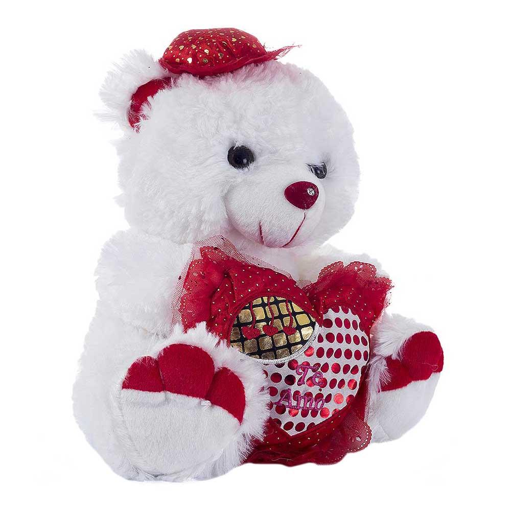 Peluche oso corazon sombrero ds210-30