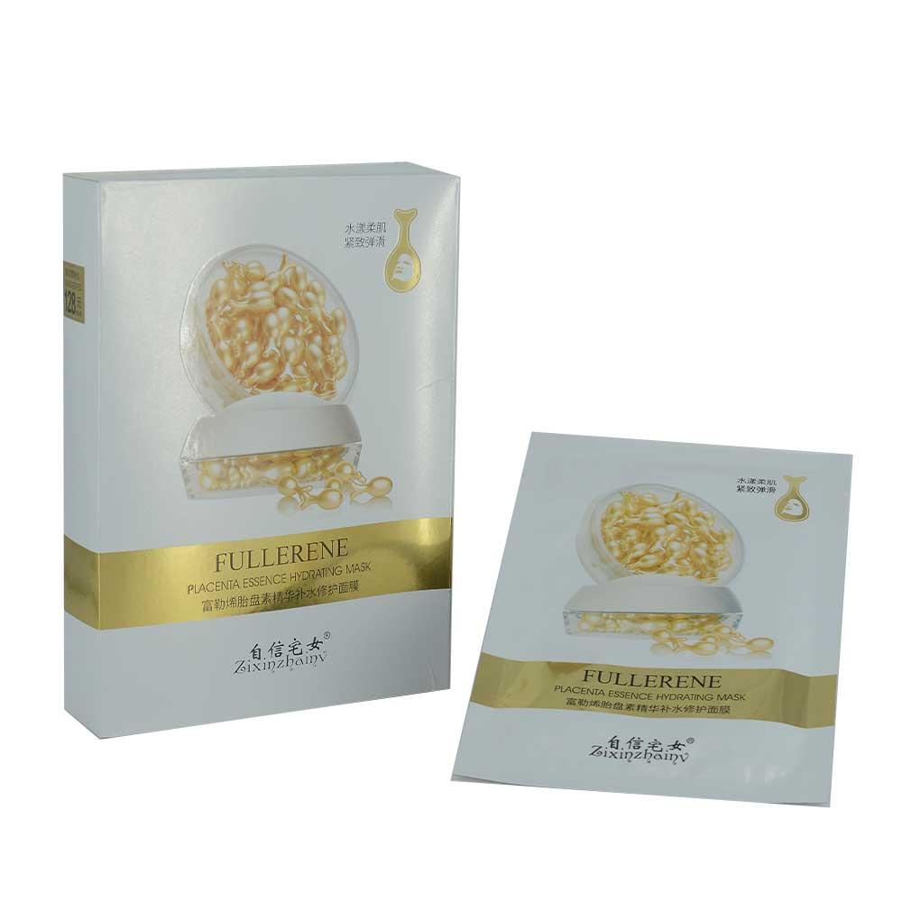Paquete de mascarilla hidratante y reparadora de esencia placentaria con 10 pzs. / fullerene placenta essence hydrating mask / dx-3913