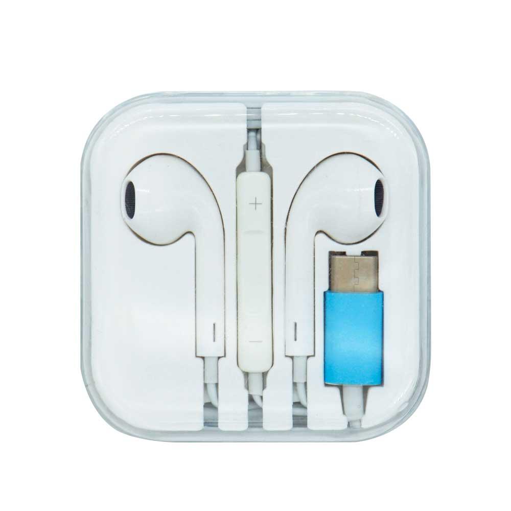 Audifonos blancos tipo earpods tipo c