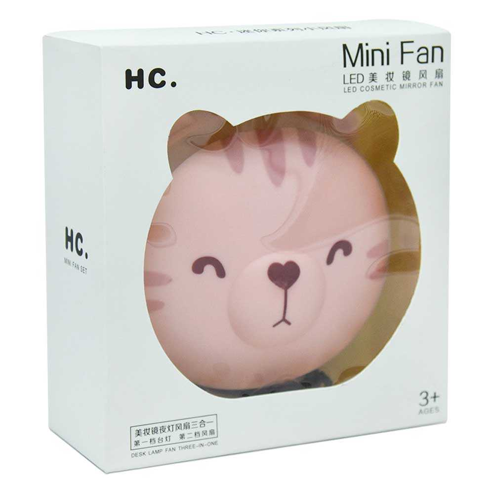 Ventilador con espejo mini fan env-026