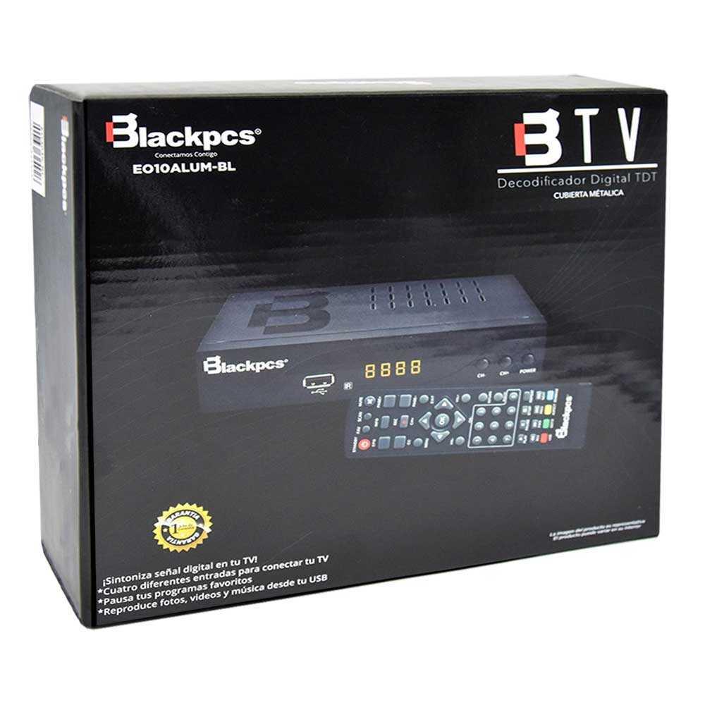 Decodificador blackpcs hdmi usb coaxial con control eo10alum-bl