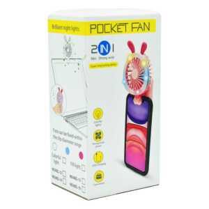 Ventilador con luz y orejas para el celular evn-028