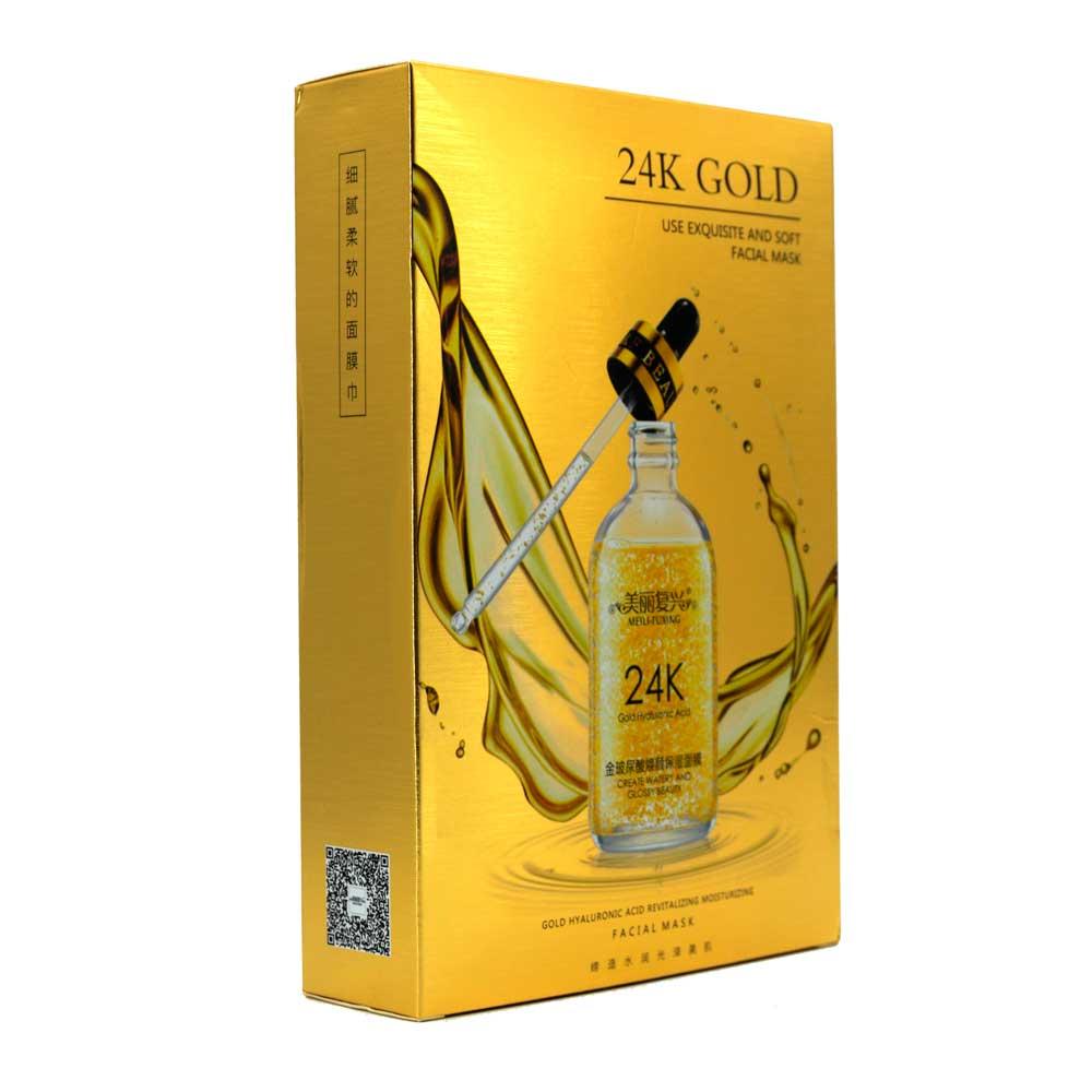 Máscara hidratante renovadora de ácido hialurónico de oro 24k fx86340