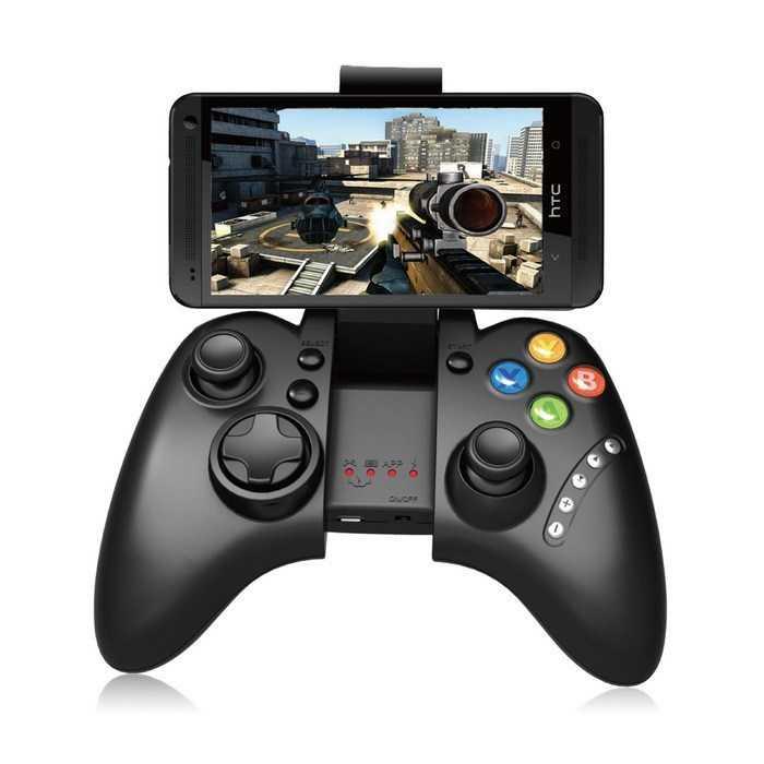 Control gamepad bluetooth joystick para videojuegos celular con soporte gmbt02