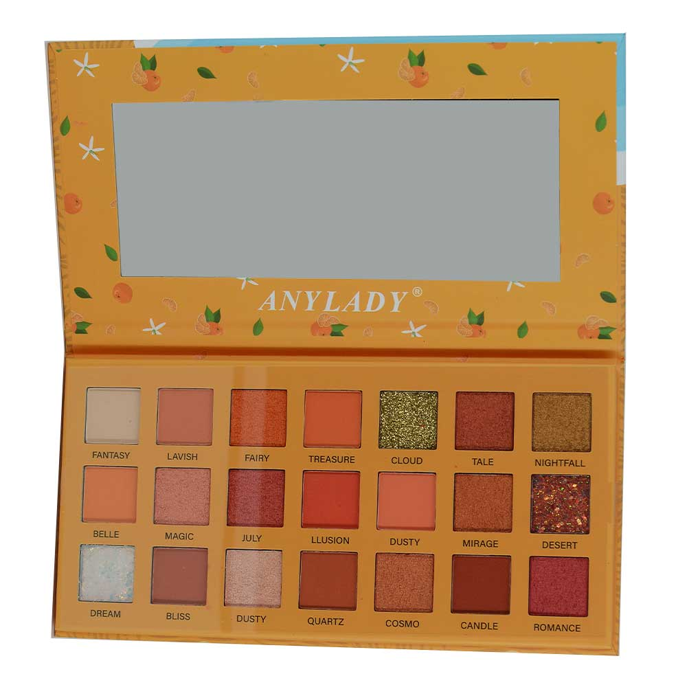 1 pza paleta de sombras / any lady / sweet as a peach / orange / h-178