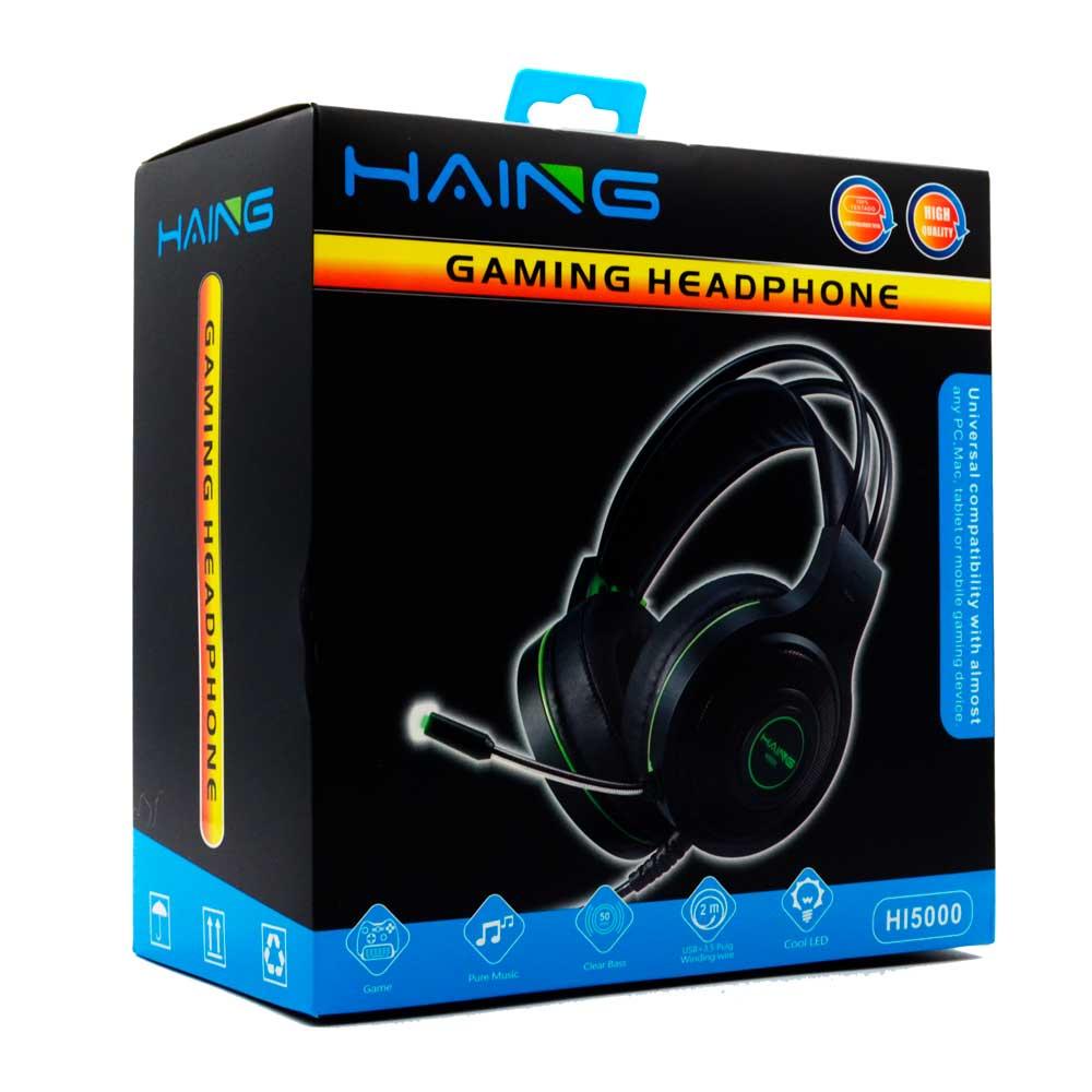 Diadema gamer con microfono haing hi5000