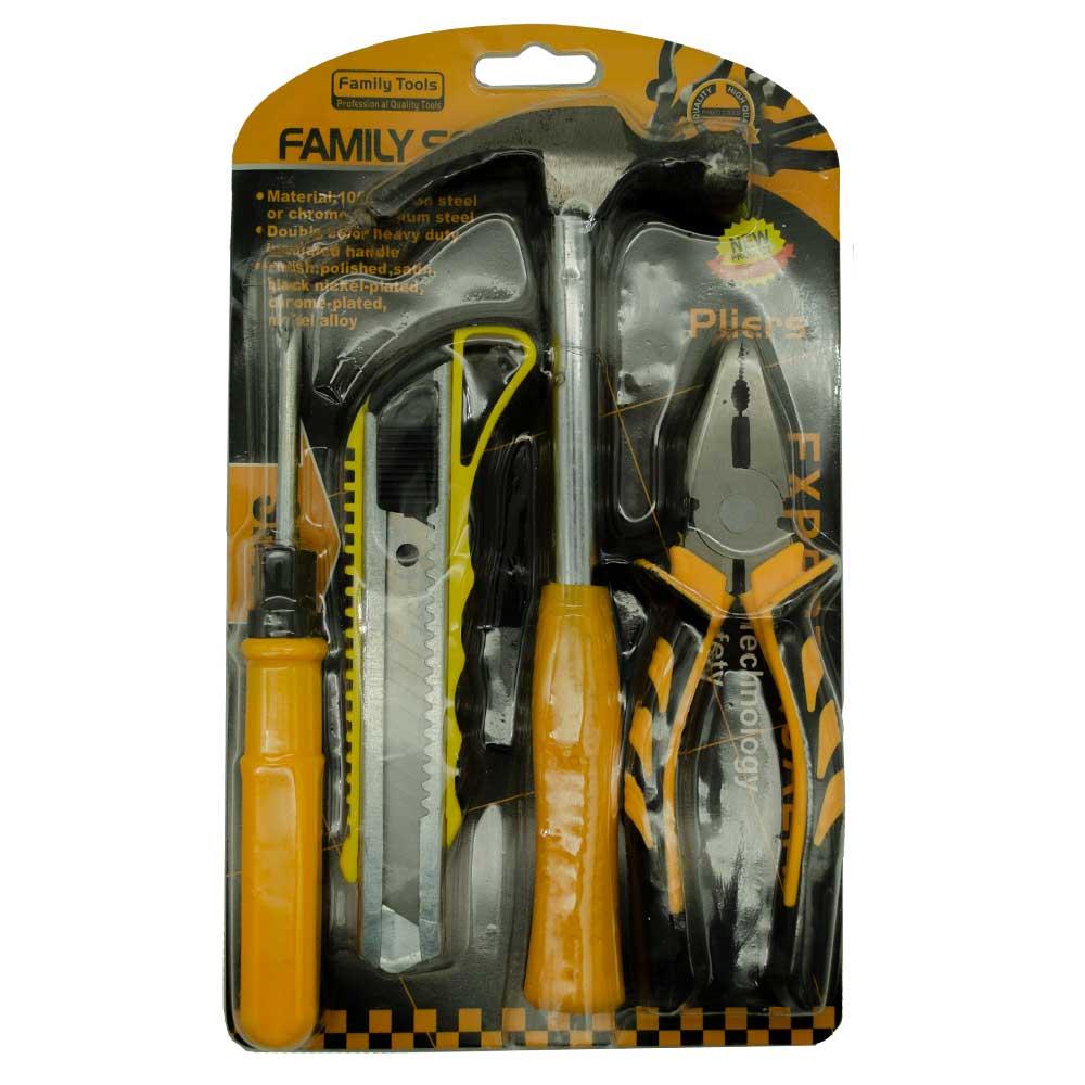Juego de herramientas martillo pinza desarmador y cuter hl ju5522