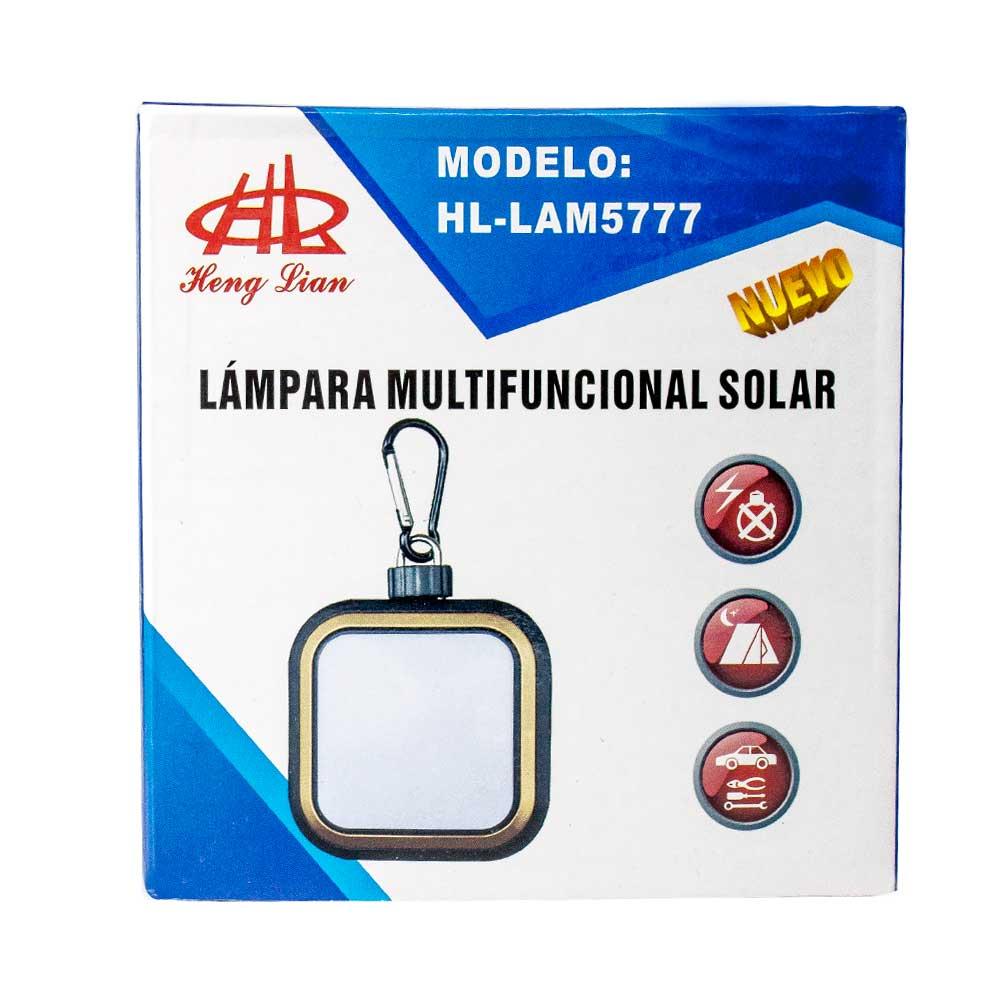 Lampara multifuncional solar carga usb mas de 5v/ carga solar/ cambia de base hl lam5776