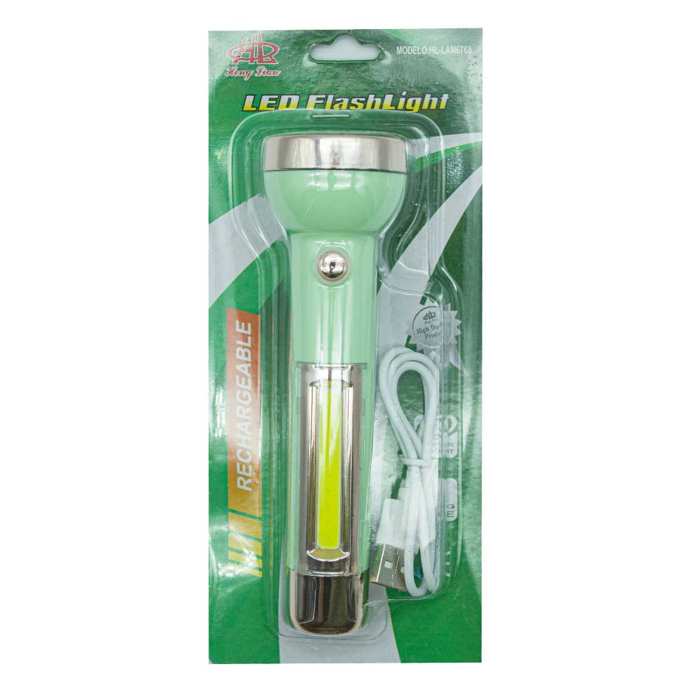 Linterna recargable led flashlight hl lam6768