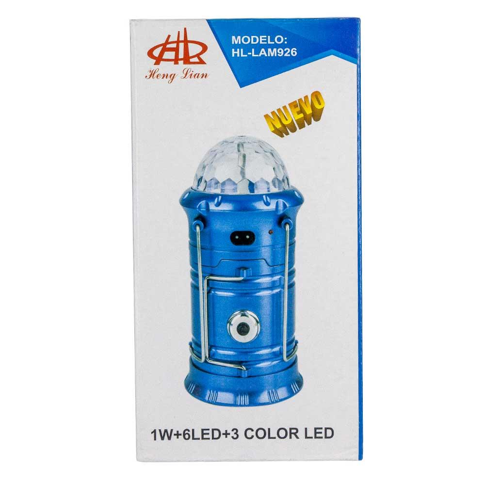 Lampara recargable 3 en 1 /1w 6 led/ 3 color hl lam926