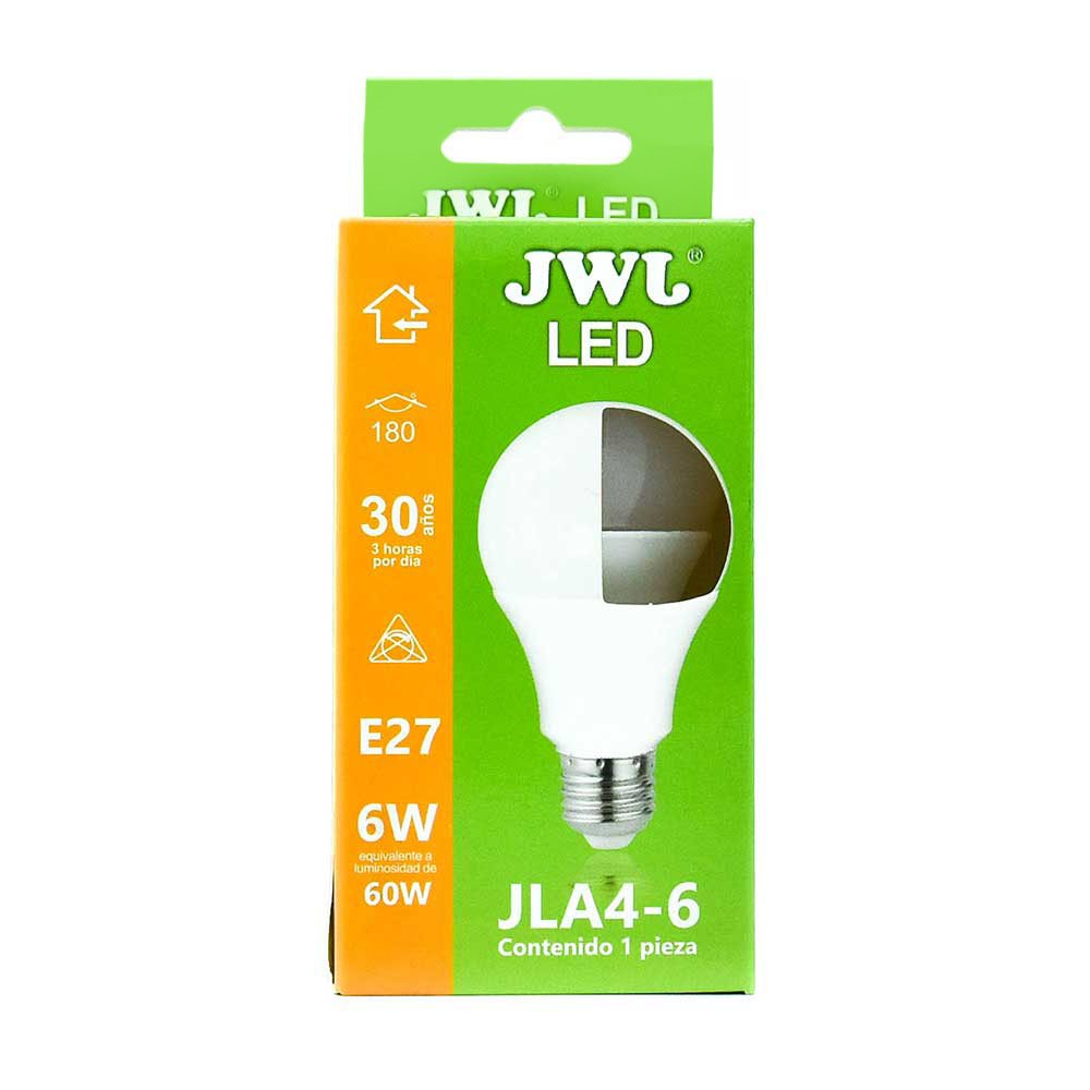 Foco led omnidireccional 6w luz cálida jla4-6c jwj