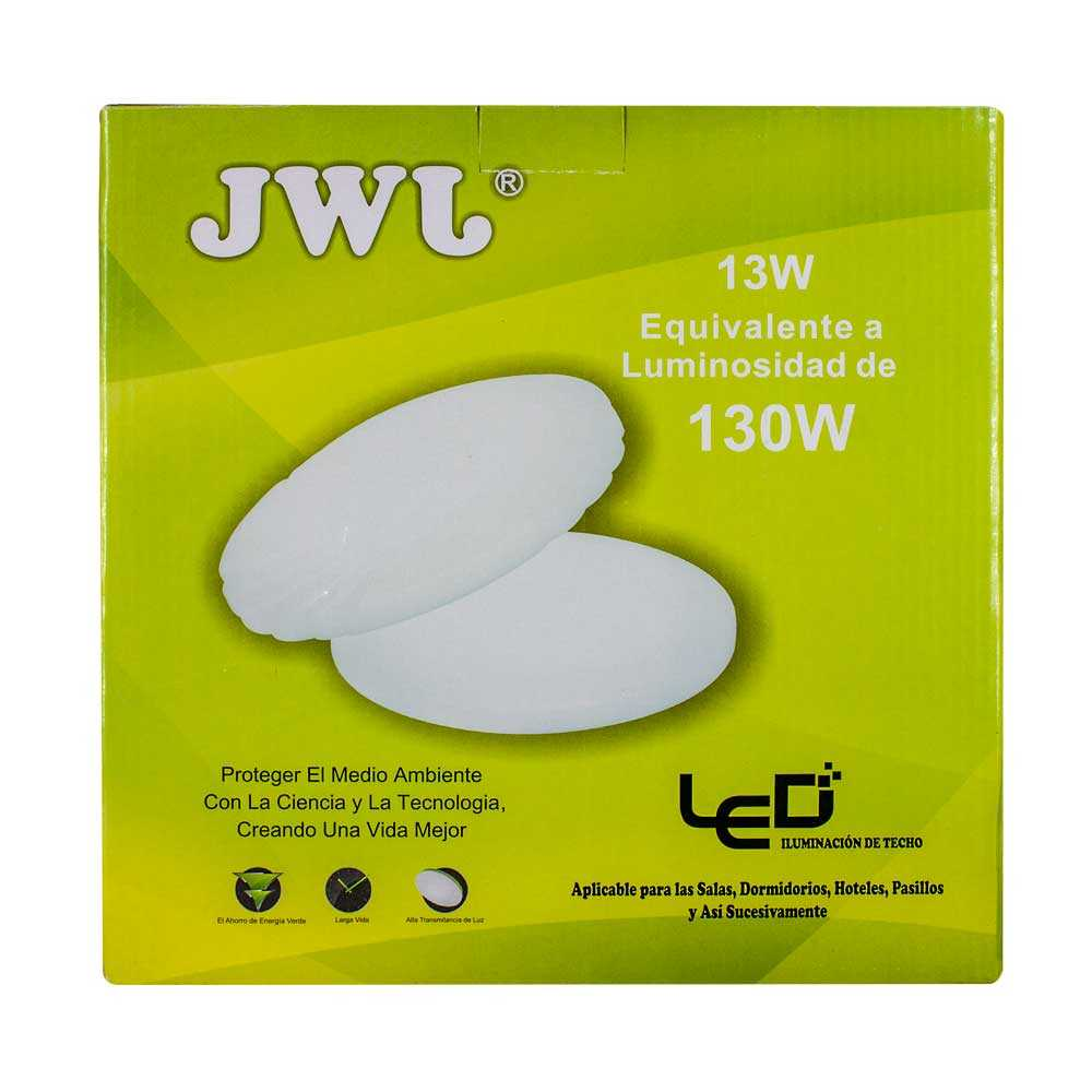 Lámpara led decorativa 13w jlbr-1321 jwj