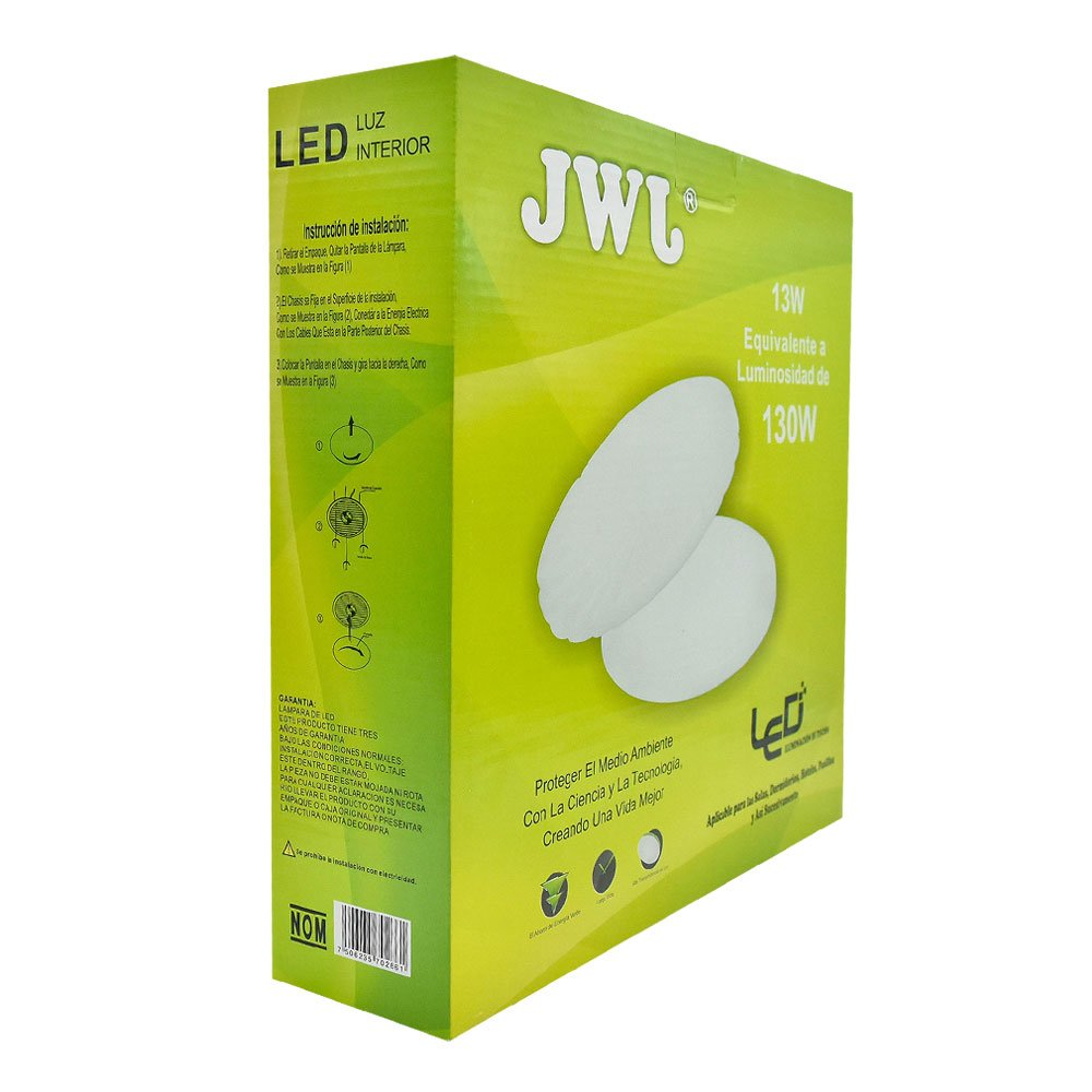 Lámpara led decorativa 13w modelo 17 jlbr-1317 jwj