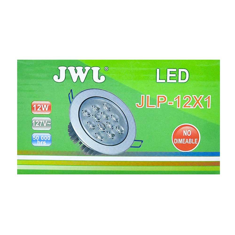 Lámpara led de 7w empotrable luz dirigible orilla satinada, luz blanca. jlp-12x1s/b marca jwj