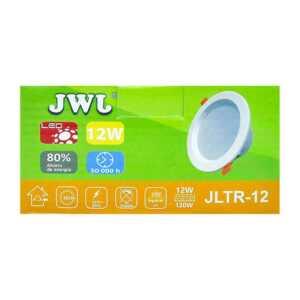 Lámpara led de 12w empotrable luz dirigible orilla blanca, luz blanca. jlp-12x1b/b jwj
