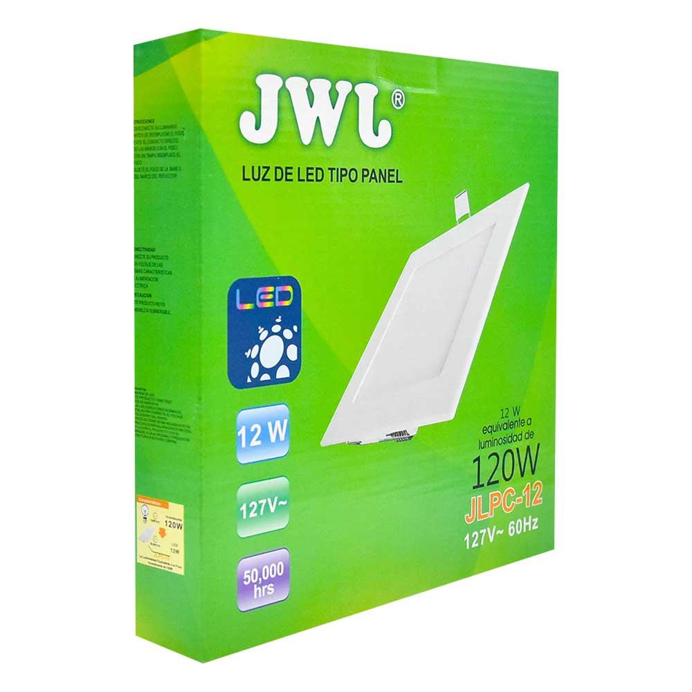 Panel de led para empotrar cuadrado 12w luz blanca jlpc-12b jwj