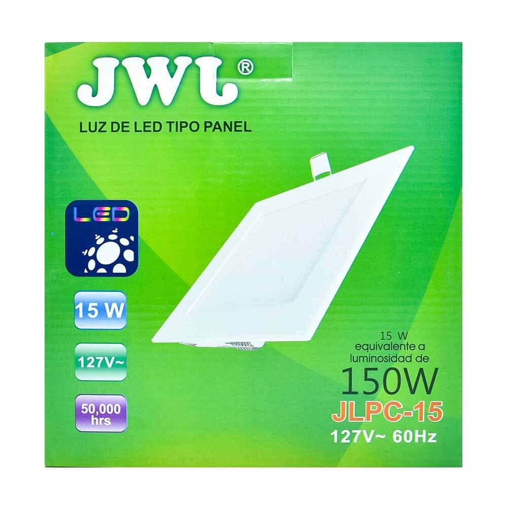 Panel de led para empotrar cuadrado 15w luz blanca jlpc-15b jwj