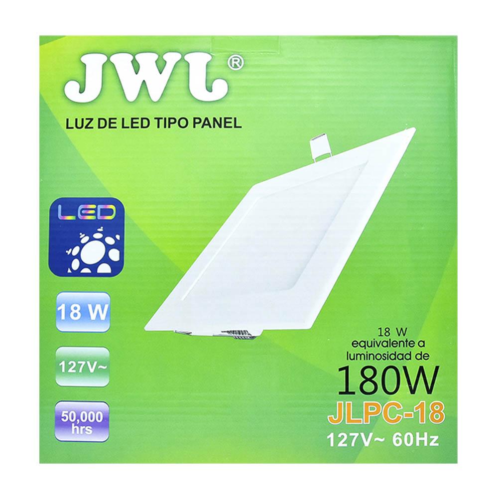Panel de led para empotrar cuadrado 18w luz blanca jlpc-18b