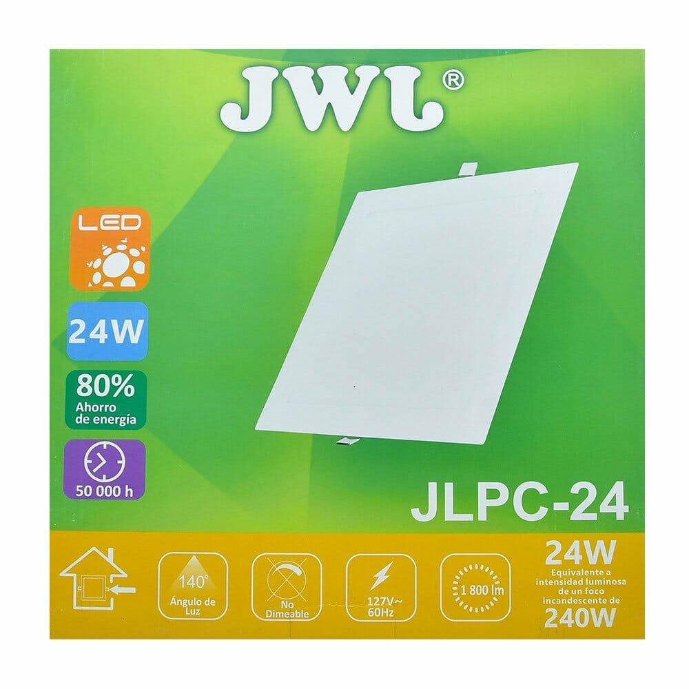 Panel de led para empotrar cuadrado 24w luz blanca jlpc-24b jwj