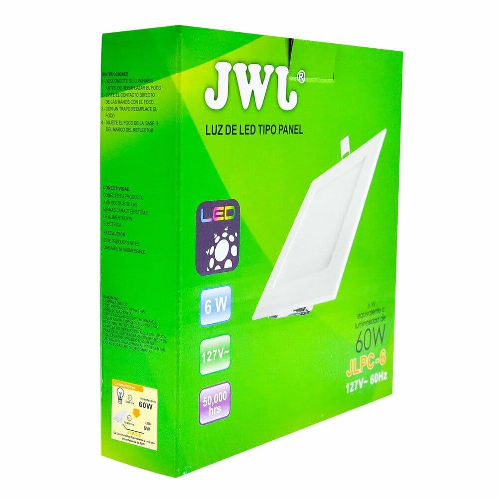 Panel de led para empotrar cuadrado 6w luz blanca jlpc-6b jwj