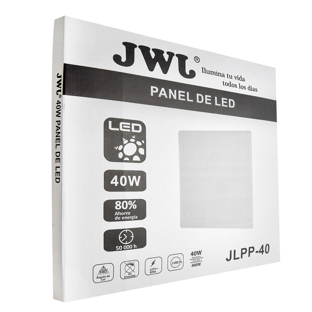 Panel led 40w 60cm x 60cm luz neutra jlpp-40xn