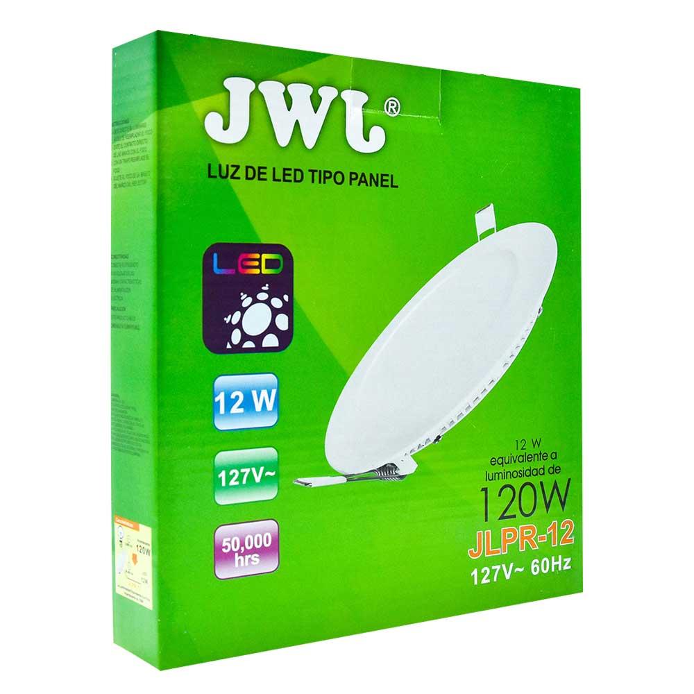 Panel de led para empotrar redondo 12w luz blanca jlpr-12b