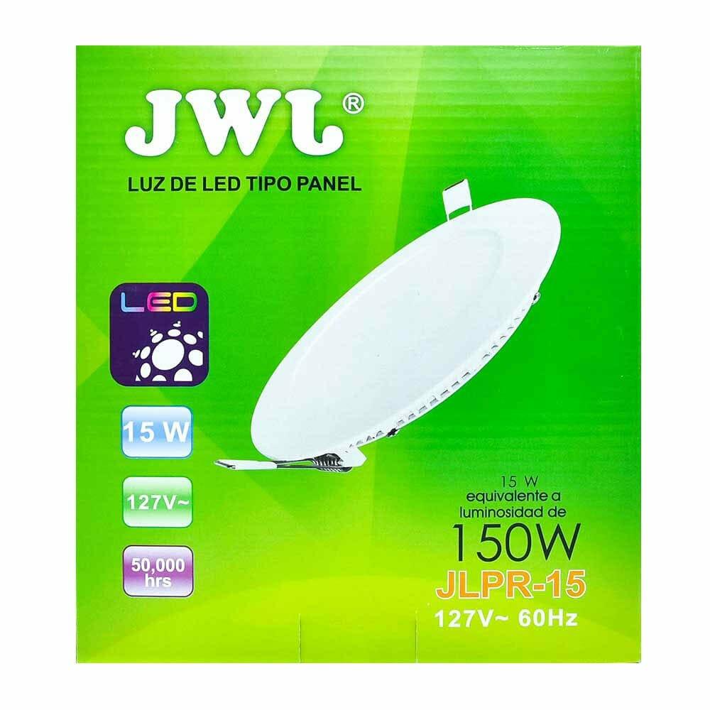 Panel de led para empotrar redondo 15w luz blanca jlpr-15b jwj