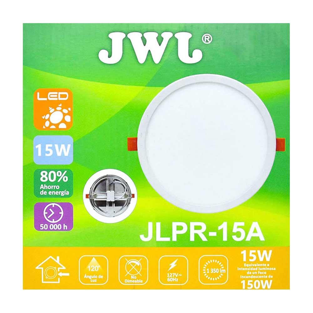 Plafón led redondo ajustable de 15w luz cálida jlpr-15ac