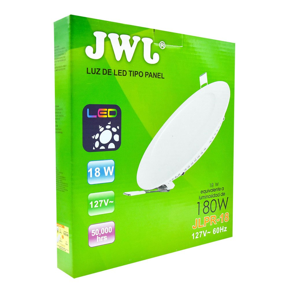 Panel de led para empotrar redondo 18w luz blanca jlpr-18b jwj