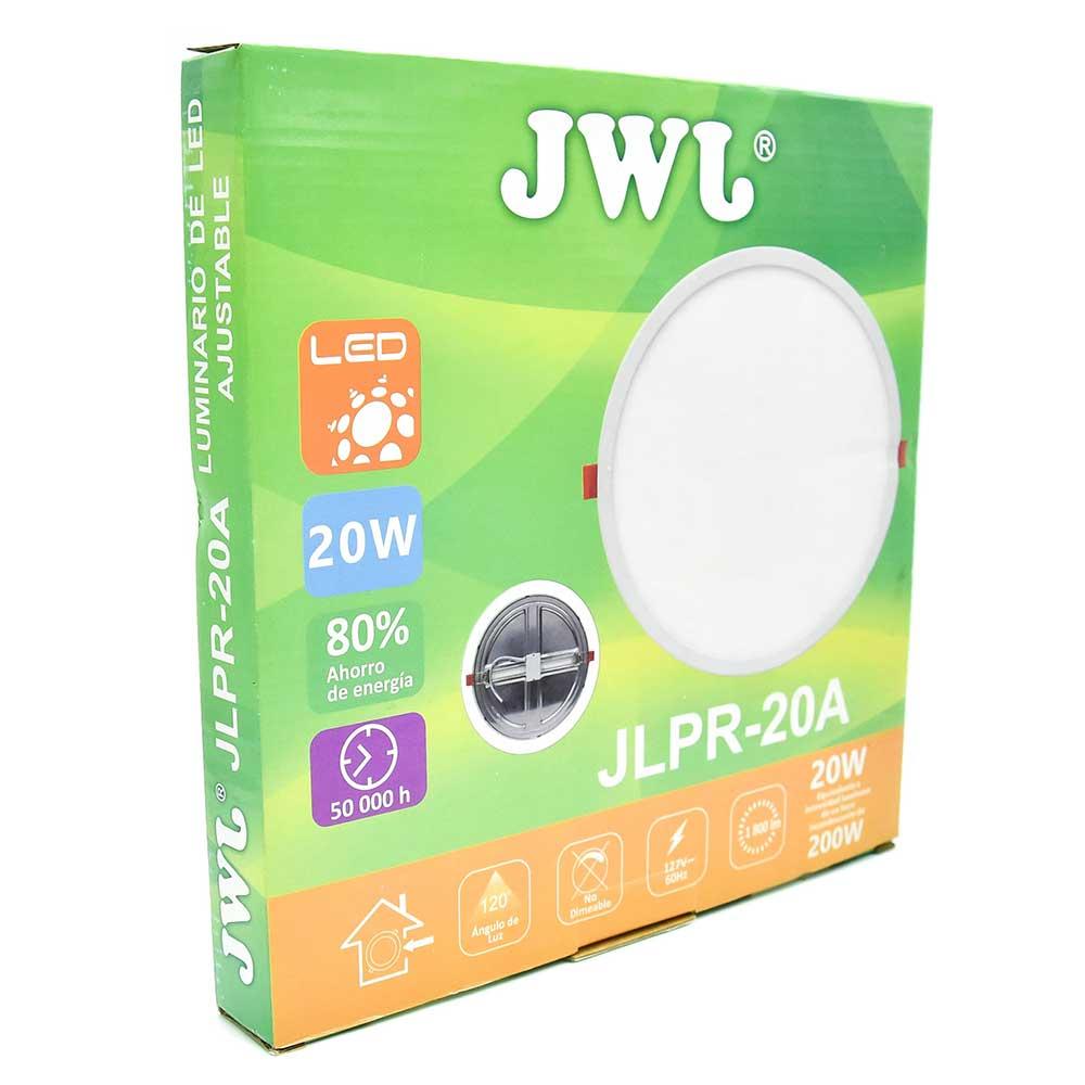 Plafón led redondo ajustable de 20w luz blanca jlpr-20ab jwj